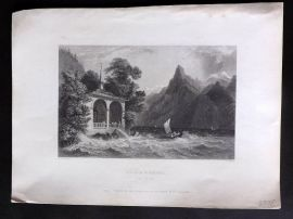 Bartlett Switzerland C1838 Antique Print. Tell's Chapel (Lake of Uri)